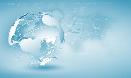 グローブの背景イメージのブルーのデジタル画像 写真素材