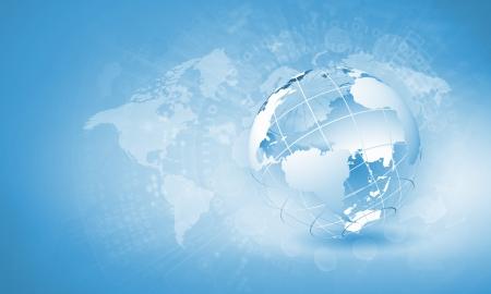 Imagem digital azul da imagem de fundo do globo