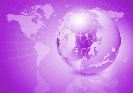 Blue digital image of globe  Background image