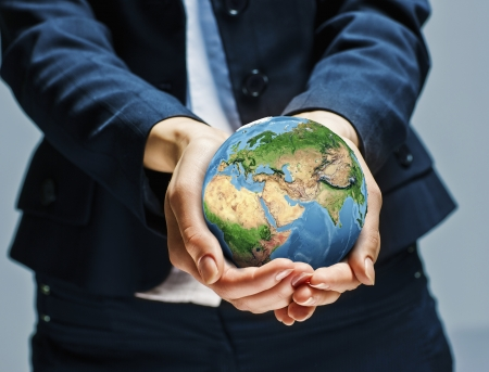 let s: Let s save our planet earth  Ecology concept  Elements  Stock Photo