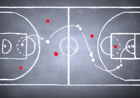 Sluit omhoog beeld van het hand getrokken plan van de voetbaltactiek