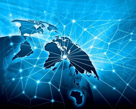 banco mundial: Azul con la imagen viva del concepto de globalización globo