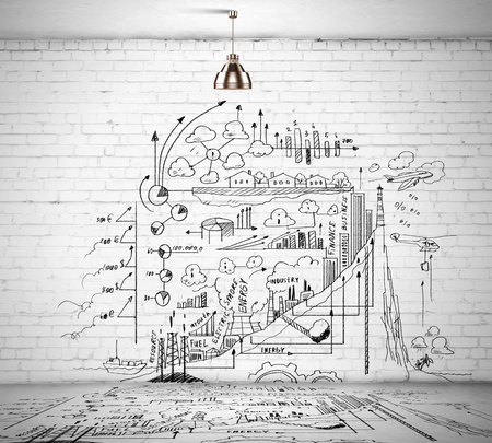 science tips: Sketch drawing with ideas on wall  Collage
