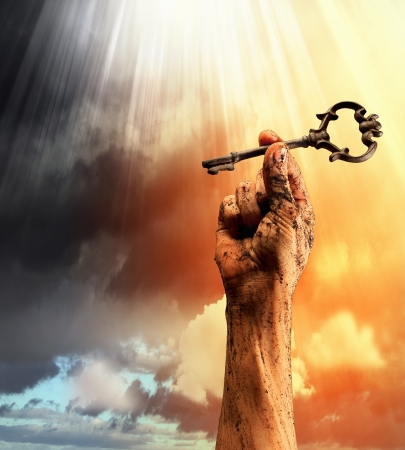 hasło: Key w ludzkiej dłoni i sukcesu Walki