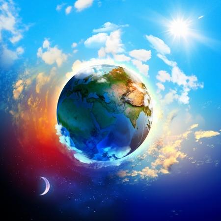 Imagen de la tierra del planeta elementos de esta imagen son proporcionados por la NASA