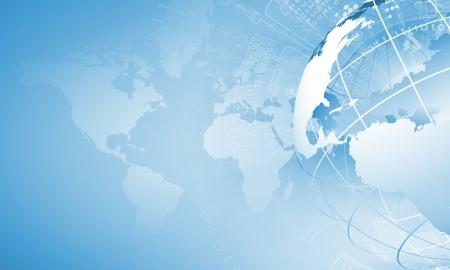 グローブ バック グラウンド イメージのブルーのデジタル画像