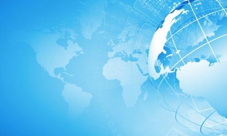 computer software: Blue digital image of globe  Background image