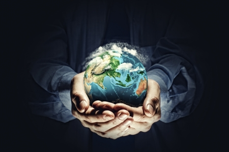 save earth: Let s save our planet earth  Ecology concept