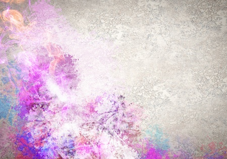 Rock passionate background with color splashes photo