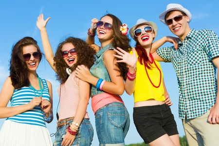summer fun: Image of young people having fun  Summer vacation Stock Photo