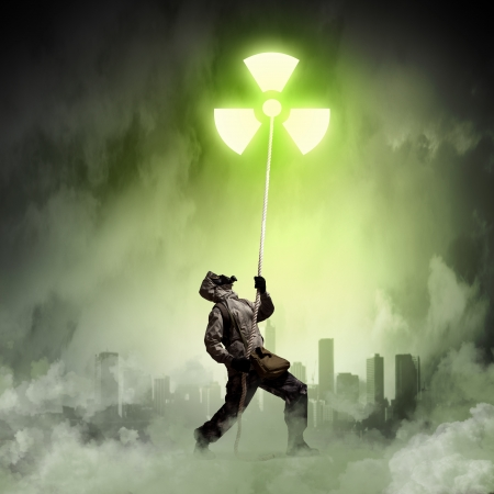 Stalker against nuclear background  Disaster and pollution