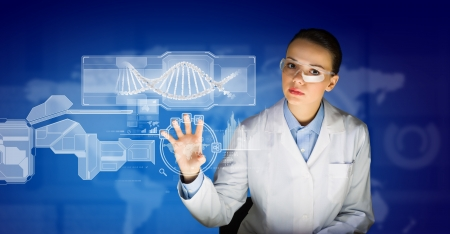 new medicine: New technologies in medicine  Molecule of DNA