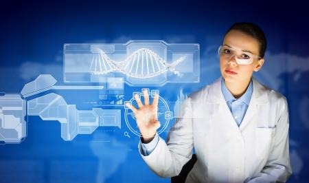 Nieuwe technologieën in de geneeskunde Molecule van DNA Stockfoto - 22040370