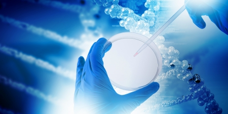 Close up image of human hand holding test tube  Science concept Stock Photo - 23346726