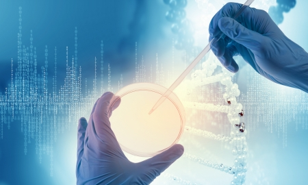 Close up image of human hand holding test tube  Science concept Stock Photo - 23346780