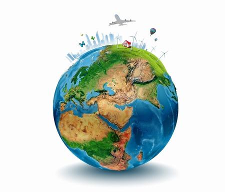 turismo ecologico: Imagen conceptual del planeta Tierra Ecología concepto elementos de esta imagen son proporcionados por la NASA