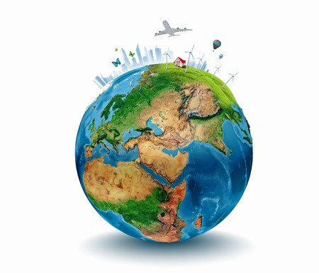 NASA によって供給される惑星地球エコロジー コンセプトこの画像の要素の概念図