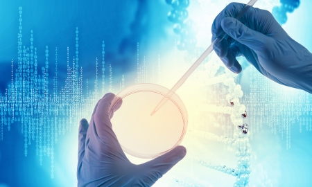 Close up image of human hand holding test tube  Science concept Stock Photo - 23403923
