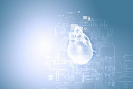 Digitaal beeld van menselijk hart Achtergrond of behang Stockfoto