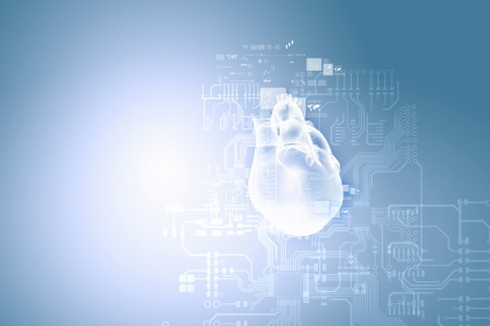 Digital image of human heart  Background or wallpaper