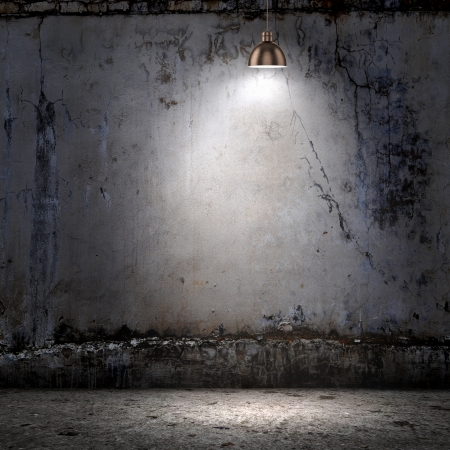 Background image of dark wall with lamp above photo