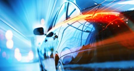 Vue arrière de l'automobile dans le salon de vente Banque d'images - 23797724