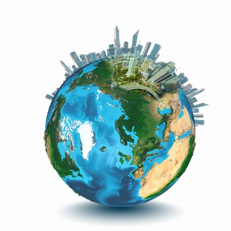 turismo ecologico: Imagen conceptual de la ecología del planeta Tierra concepto elementos de esta imagen proporcionada por la NASA están Foto de archivo