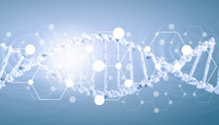 Digital background image with DNA molecules photo
