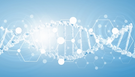 dna test: Digital background image with DNA molecules