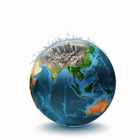 Conceptual image of planet Earth  Ecology concept  photo