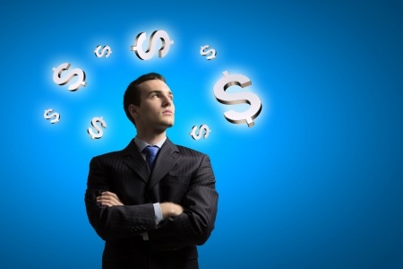 financing: Image of confident businessman with arms crossed on chest