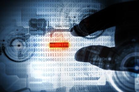 Computer concept met binaire code Veiligheid en wachtwoord