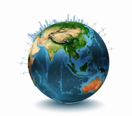 Conceptueel beeld van de planeet Aarde Ecologie concept Elementen van deze afbeelding wordt geleverd door NASA Stockfoto