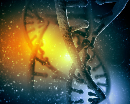 dna background: DNA molecule is located in front of a colored background  abstract collage