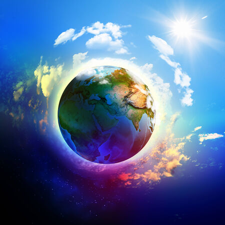 Image of planet Earth planet  Save our planet  Elements of this image are furnished by NASA Stock Photo