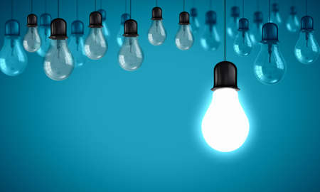 best ideas: Conceptual image of electrical hanging bulbs  Idea concept