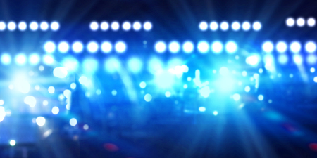 entertainment background: Background image of stage in color lights