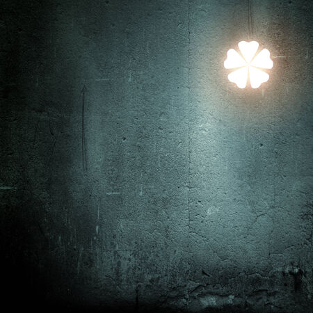 fortunateness: Background image with clover on dark background