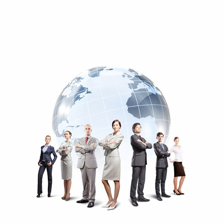 Group of successful confident businesspeople  Globalization concept