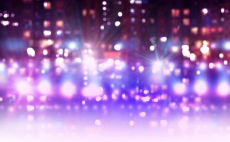 beeld van de etappe in kleur licht Stockfoto