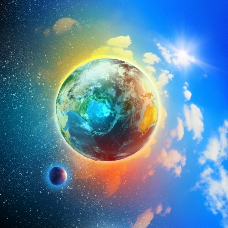 Image of earth planet  Elements of this image are furnished by NASA photo