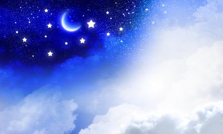 Conceptueel beeld van dag en nacht hemel Stockfoto