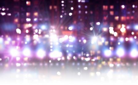 色のライトでステージの背景イメージ 写真素材
