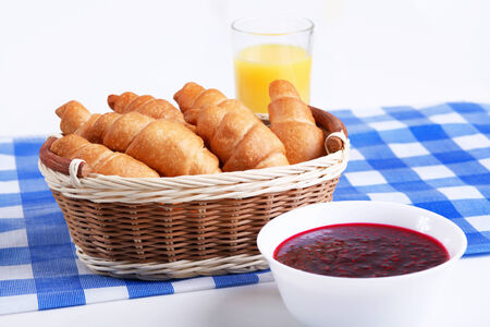 caf: Continental breakfast with croisant and orange juice