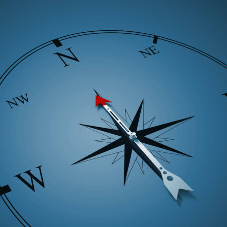 Conceptual image of compass pointing the direction Stock Photo - 25971382