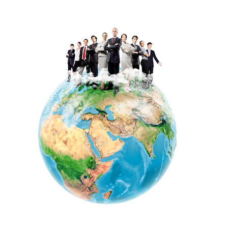 Group of successful confident businesspeople  Globalization concept  photo