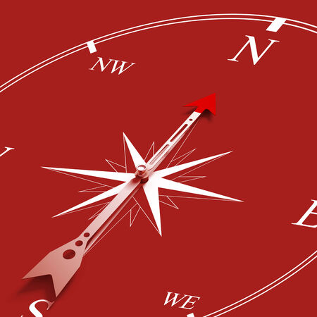 Conceptual image of compass pointing the direction Stock Photo - 25997618