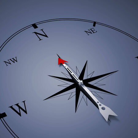 Conceptual image of compass pointing the direction Stock Photo - 26438717