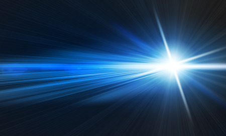 blue light: Background image with light beams and rays Stock Photo