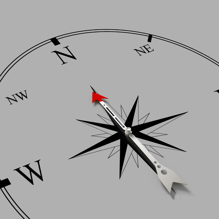 Conceptual image of compass pointing the direction Stock Photo - 26583601